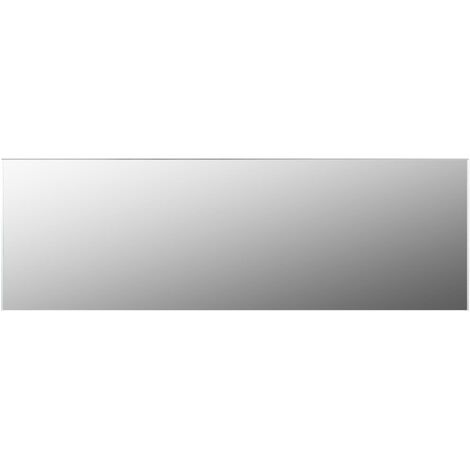Frameless Mirror 120x30 cm Glass