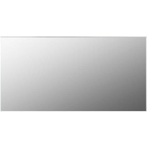 Frameless Mirror 120x60 cm Glass - Silver