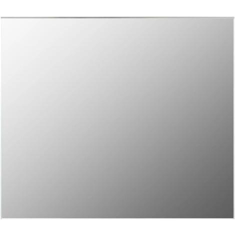 Frameless Mirror 80x60 cm Glass - Silver