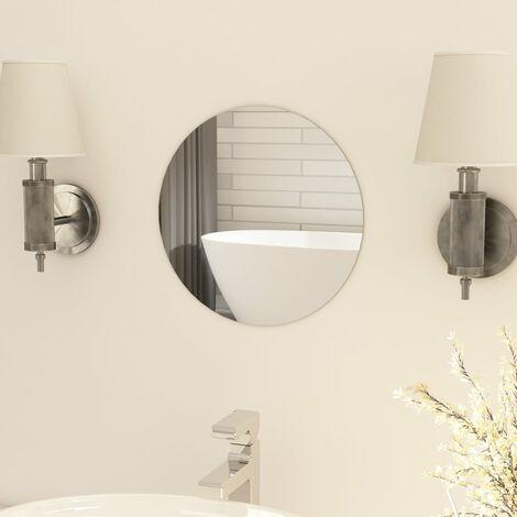 Frameless Mirror Round 30 cm Glass