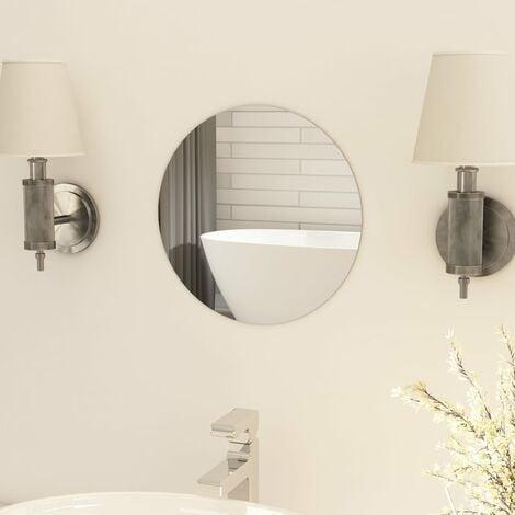 Frameless Mirror Round 30 cm Glass - Silver