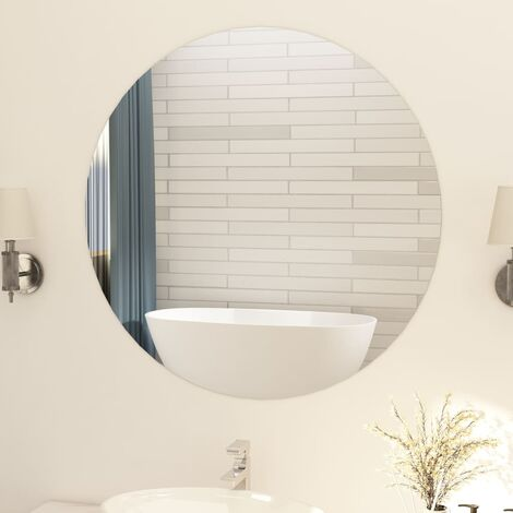 Frameless Mirror Round 90 cm Glass