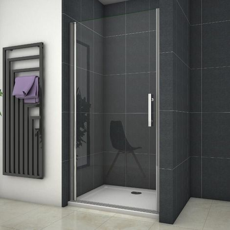 Frameless Pivot Shower Door Enclosure 700/760/800/900/1000mm Glass Screen,Shower Tray Optional