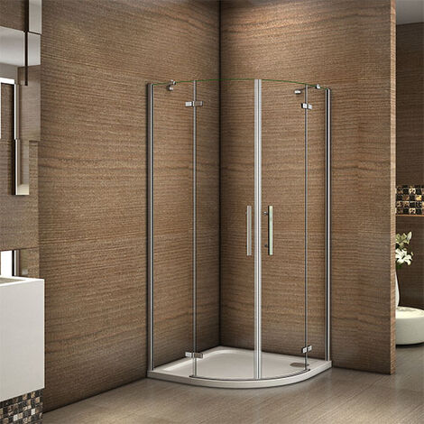 Frameless Quadrant Shower Enclosure Hinge Door Walk in Tempered Clear Glass