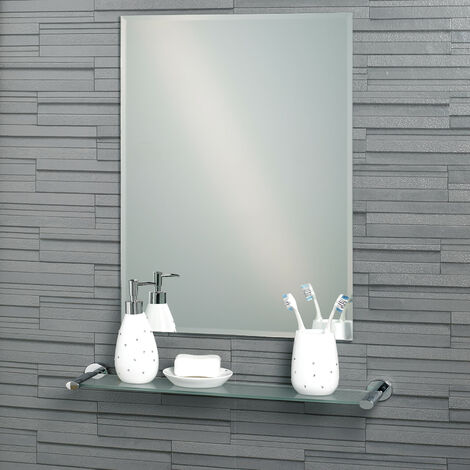 Frameless Rectangular Bevelled Edge Fairmont Bathroom Mirror