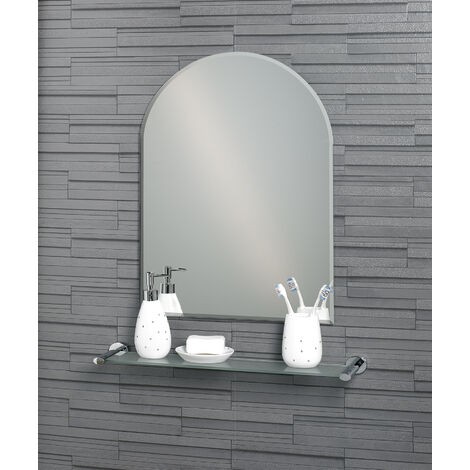 Frameless Wall Mounted Arch Hampton Bathroom Mirror