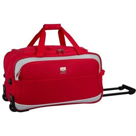 FRANCE BAG Sac de Voyage a Roulettes Souple 2 Roues 35cm Rouge