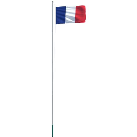 France Flag and Pole Aluminium 6,2 m