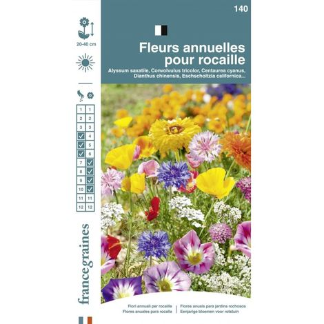 France Graines - Mélange Fleurs Rocaille Annuelle