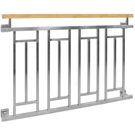 Francese balcone ringhiera in acciaio inossidabile parapetto finestra 128 x90 cm