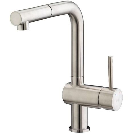 Francis Pegler Adorn Horizontal Pull Out Spout Kitchen Sink Mixer Brushed Nickel 4G4178