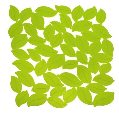 FRANDIS Tapis de fond d'évier - Feuille PVC - L 30 x l 27 cm - Vert