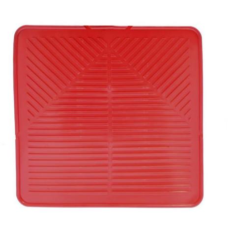 FRANDIS Tapis pour égouttoir avec évacuation d'eau - L 29 x l 29 cm - Rouge