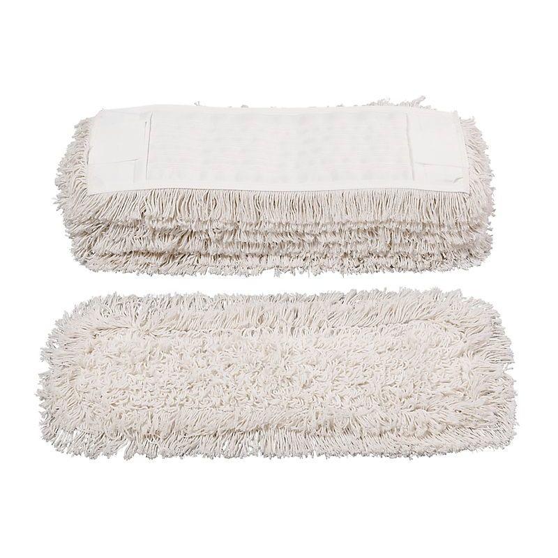 Franges en coton pour balai à franges - pour support repliable 500 mm - lot de 10 - Coloris: blanc