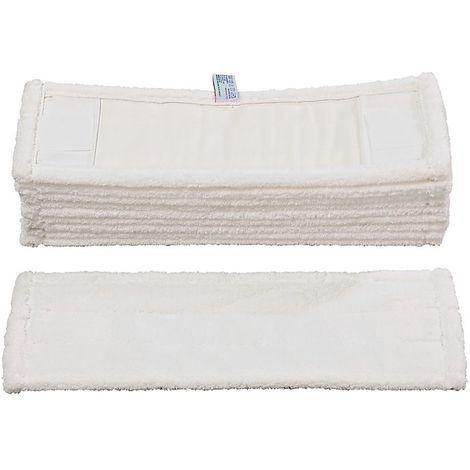 Franges microfibres PERFECT WHITE - pour support repliable 500 mm - lot de 10 - Coloris: blanc