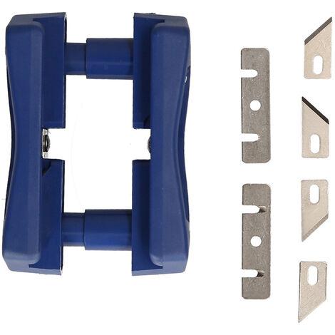 Franja de borde de recorte, Mini Double Edge Trimmer portatil de madera Franja de borde de la maquina, herramienta de carpinteria Manual Recorte