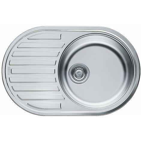 Franke 101.0058.093évier de cuisine en acier inoxydable avec double Bol, gris