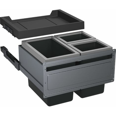 FRANKE Abfallsammler FX 60 26-11-11, KB 600mm, 600x448x456, 1x26 / 2x11 l-Eimer