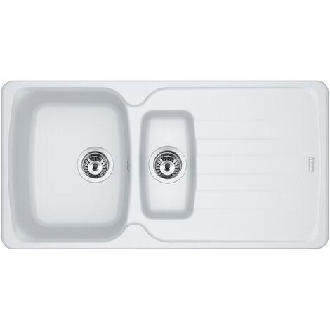 Franke Antea Azg651 1.5b Reversible Inset Kitchen Sink White