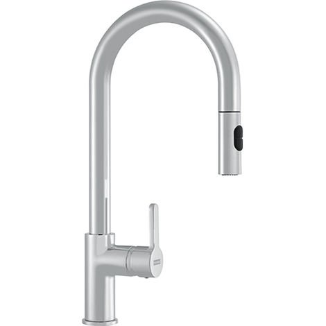 Franke Arena Pull Out Spray Kitchen Tap Silk Steel