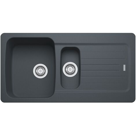 """main image of """"Franke Aveta AVD651 1.5 Kitchen Sink 97x50cm with drainers, Fradura, Anthracite (AVD651A)"""""""