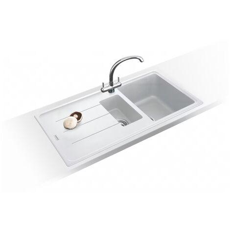 Franke Basis Bfg651 Fragranite Inset 1.5b Reversible Kitchen Sink Polar White