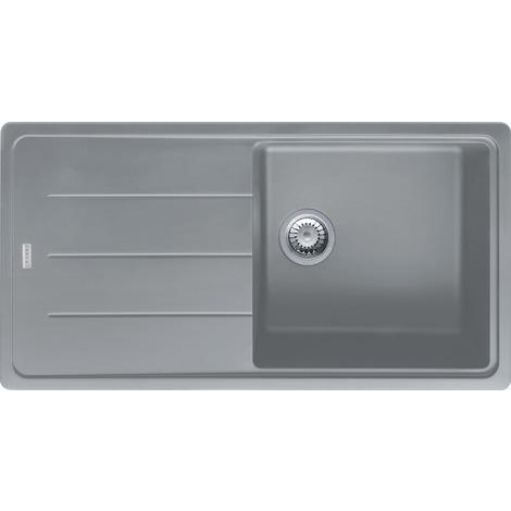 Franke BASIS - Evier Granit BFG 611, 970x500 mm, pierre grise (114.0285.314)