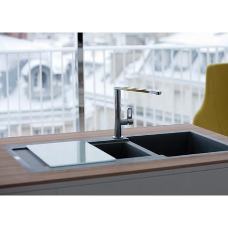 franke evier 1 cuve 1 2 maris fragranit graphite 694297. Black Bedroom Furniture Sets. Home Design Ideas