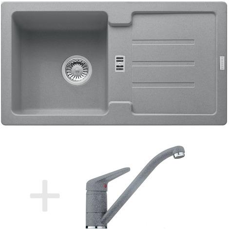 Franke Kitchen Kit G89, Granite Sink STG 614-78, Gray Stone + Mixer FG 9541, Gray Stone (114.0366.006)