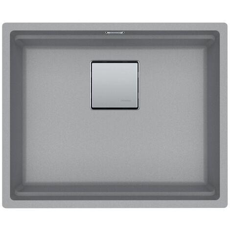 "main image of ""Franke Kubus 2 KNG 110-52 Fragranit+ Undermount kitchen sink Grey stone (125.0512.507)"""