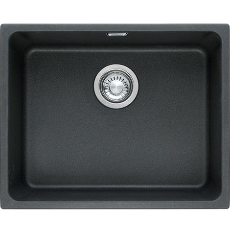 Franke Kubus Kbg 110 50 1b Undermount Kitchen Sink Fragranite Onyx Black