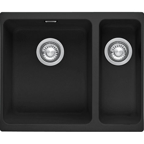 Franke Kubus Kbg 160 1.5b Undermount Rhsb Kitchen Sink Fragranite Onyx Black