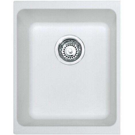 Franke Kubus KBG110-34 - Blanc Artic (moucheté) - Vidage : Manuel