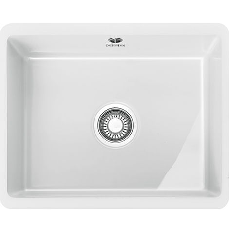 Franke Kubus KBK 110 50 1b Undermount Ceramic Kitchen Sink White