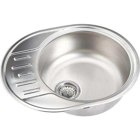 Franke lavello da cucina con una vasca in acciaio inox seta di Polar pxn  611 – 57, 1 pezzo, 101.0458.565