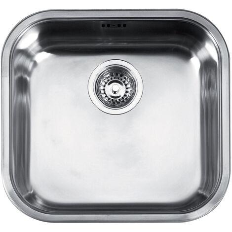 "Franke Quadrant - Inox Évier QAX 610, 3 1/2"", 445x415 mm + siphon (101.0286.031)"