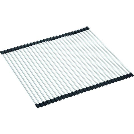 "main image of ""Franke Rollmat stainless steel foldable drainer 468x420x9 mm for KBG, KBX, PPX, MRX, MTK sinks (112.0030.882)"""