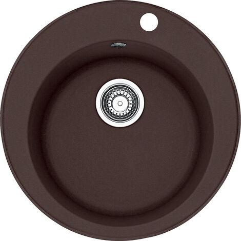 Franke RONDO - Fragranit évier ROG 610-41 Chocolat, 510mm, cuve ronde (114.0284.083)