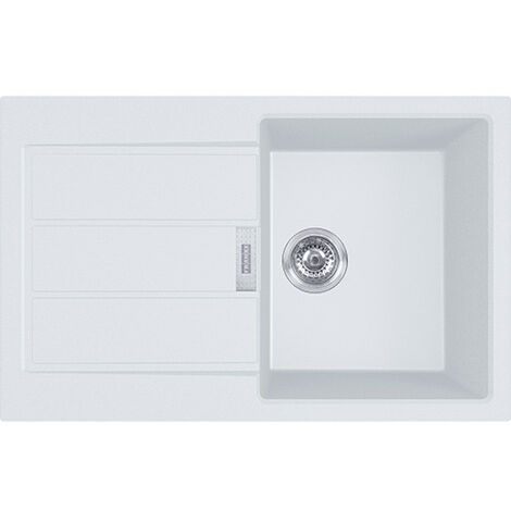 Franke SIRIUS - 2.0 S2D 611-78 Tectonite® Evier à encastrer Blanc