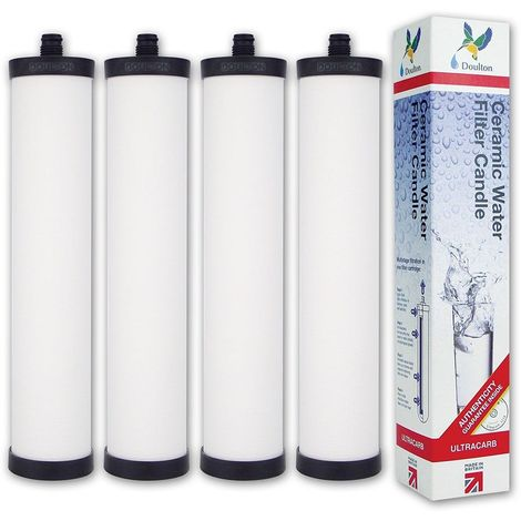 Franke Triflow FRX02/CP9455 Genuine Doulton Ultracarb M15 Mount Water Filter (4 pack)