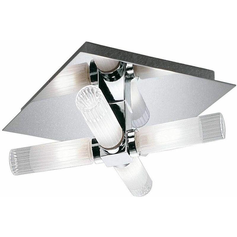 Image of Bathroom ceiling light chrome IP44 4 Bulbs