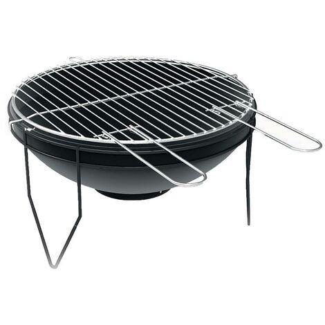 FRANKYSTAR Big Smile - BBQ circulaire de table avec grill ø 43 cm
