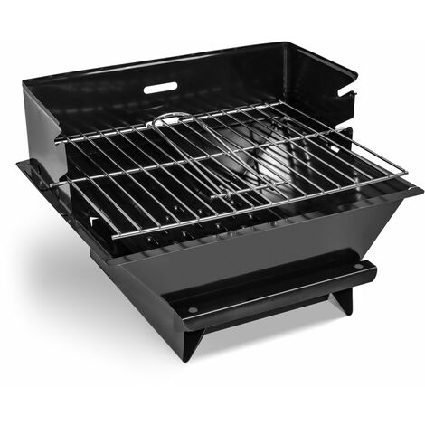 FRANKYSTAR MiniGrill - Table-top charcoal or wood BBQ with 30x25 cm grate