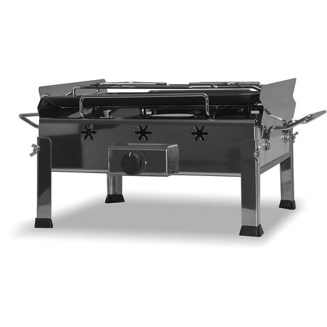 FRANKYSTAR Plancha Inox - BBQ de table à gaz