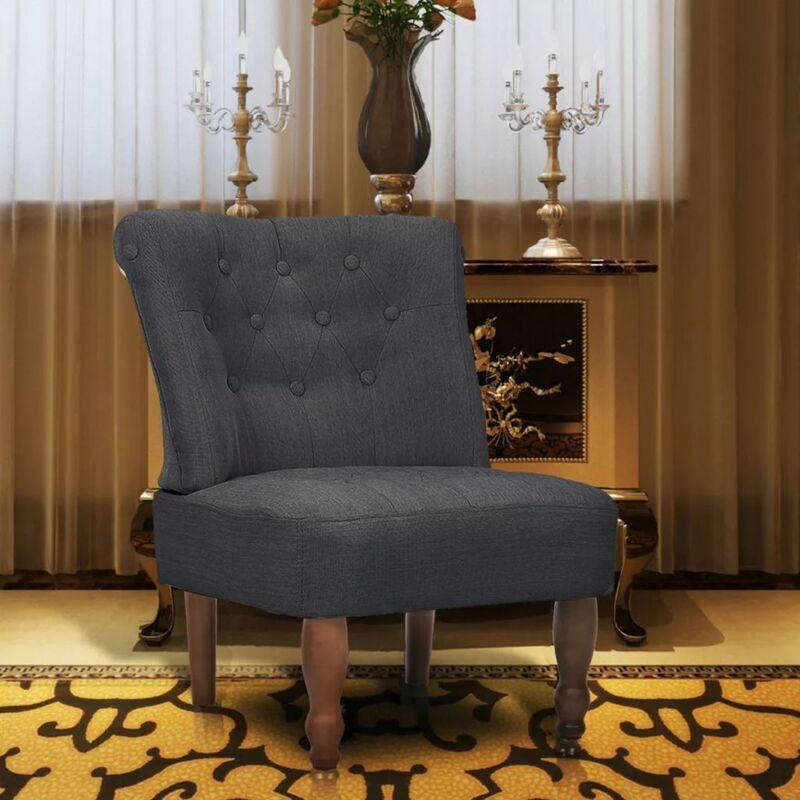 Französischer Sessel Grau Stoff - ZQYRLAR