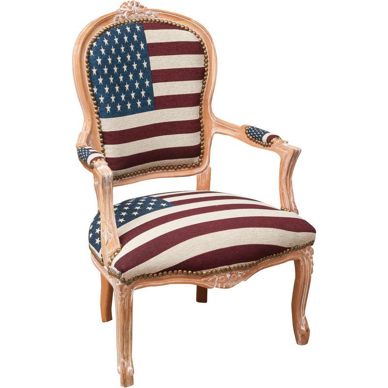 Biscottini - Französischer Sessel im Louis XVI-Stil aus massivem Buchenholz