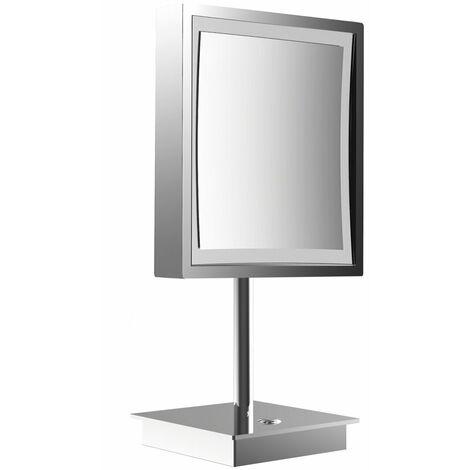 frasco LED Floor Mirror 3-fold, rectangular, D: 200 mm, plug, chrome 833171100 - 833171100