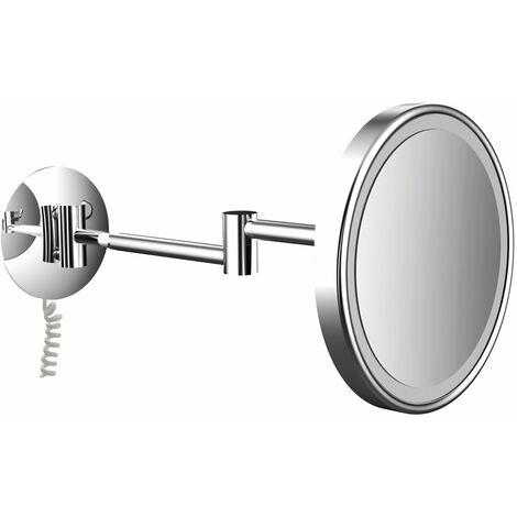 frasco LED wall mirror 2-armed, triple, round, D: 200 mm, plug, chrome 830121100 - 830121100