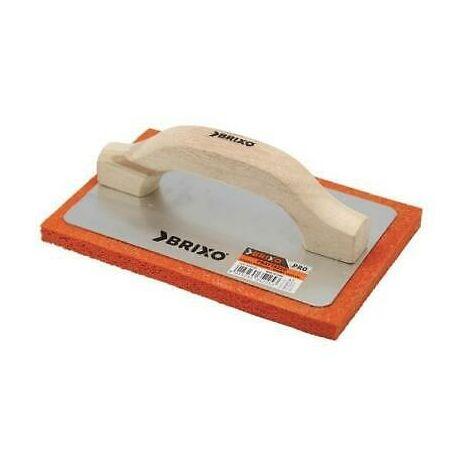 Frattazzi brixo spugna arancione cm14x21 manico legno