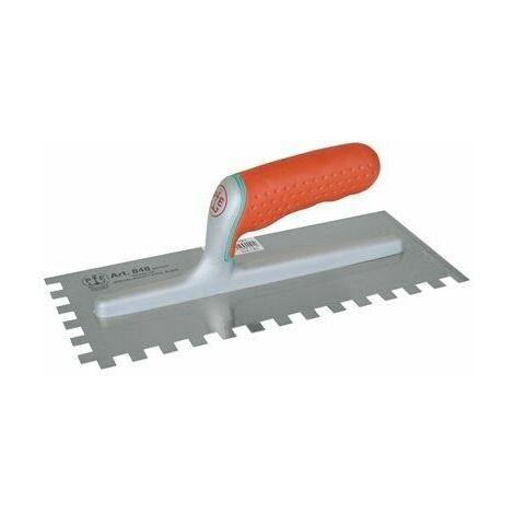 Frattazzo frattone acciaio dentato 5x7 mm eccelsa 180x120 848/d sx pavan